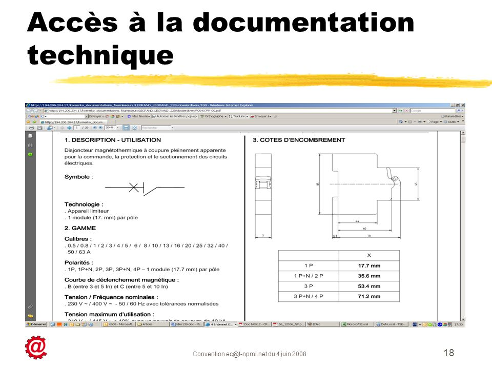 Accès à la documentation technique