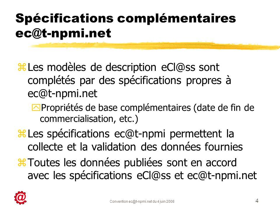 Spécifications complémentaires ec@t-npmi.net