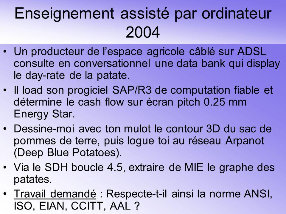 Enseignement assisté par ordinateur 2004