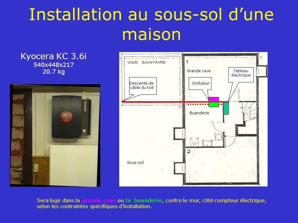 Installation au sous-sol d'une maison