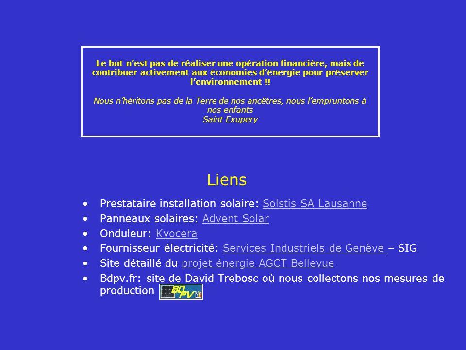 Liens Prestataire installation solaire: Solstis SA Lausanne