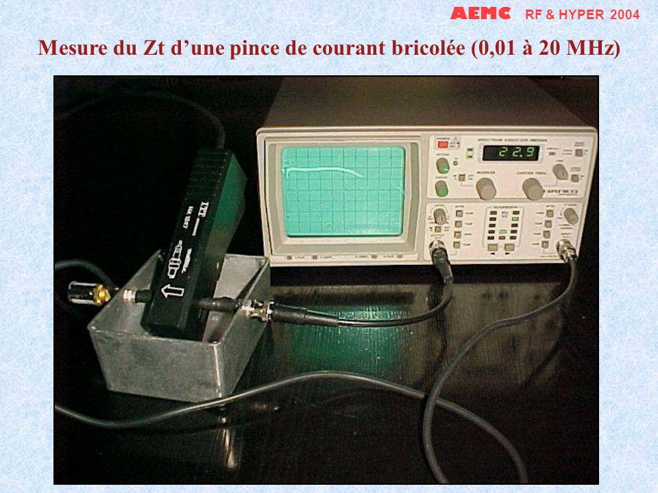 Mesure du Zt d'une pince de courant bricolée (0,01 à 20 MHz)
