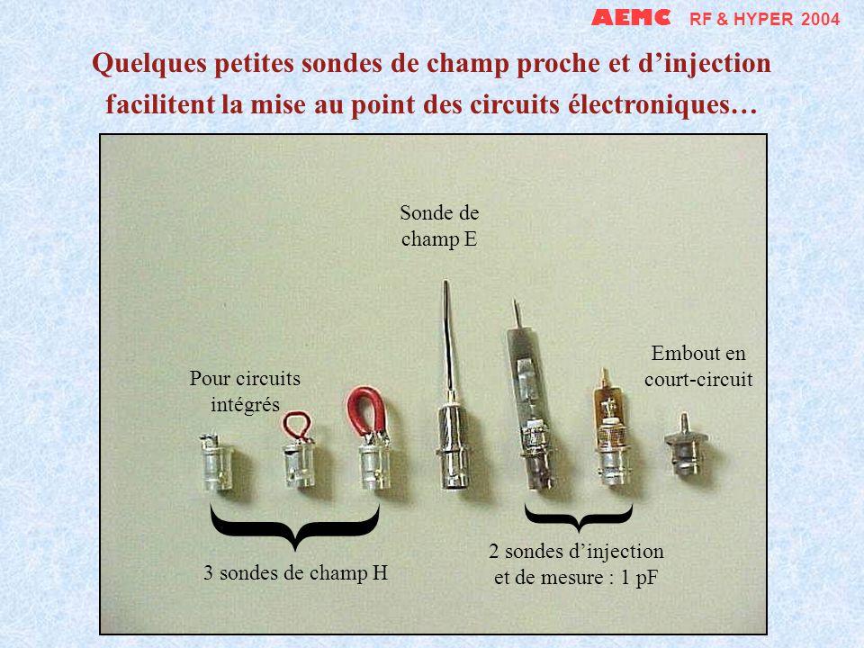 AEMC RF & HYPER 2004 Quelques petites sondes de champ proche et d'injection facilitent la mise au point des circuits électroniques…