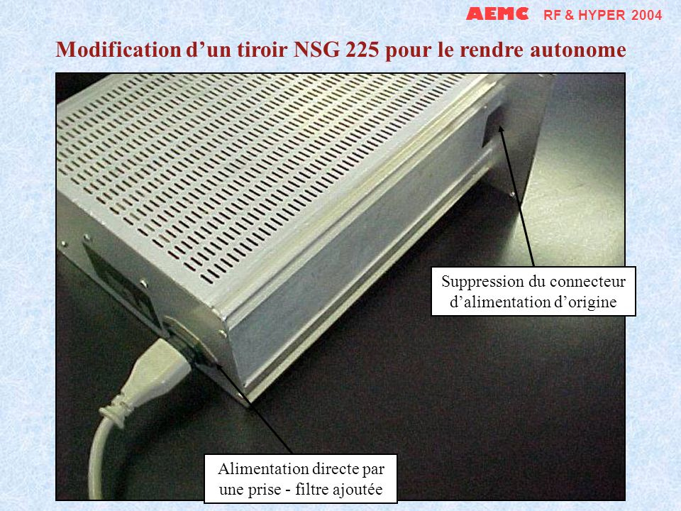 Modification d'un tiroir NSG 225 pour le rendre autonome