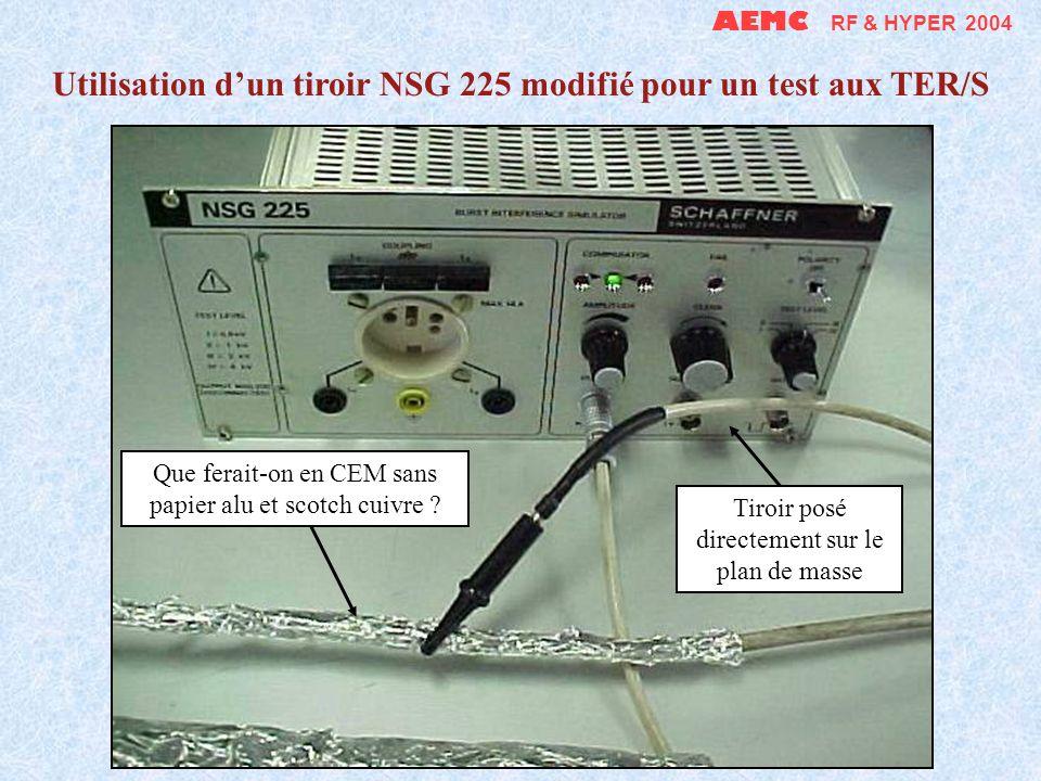 Utilisation d'un tiroir NSG 225 modifié pour un test aux TER/S