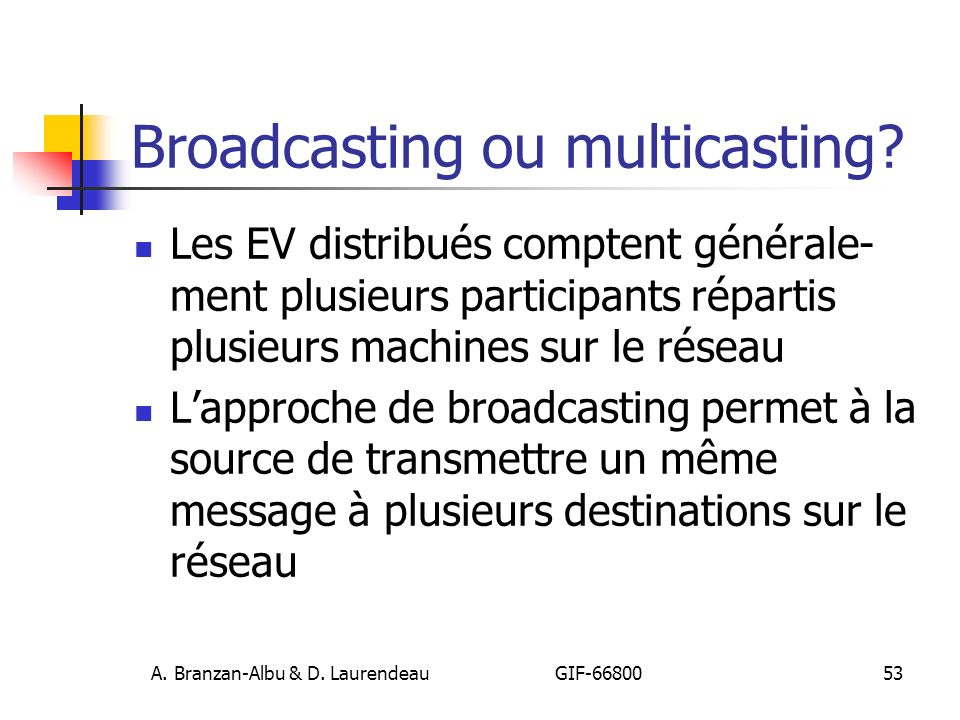 Broadcasting ou multicasting