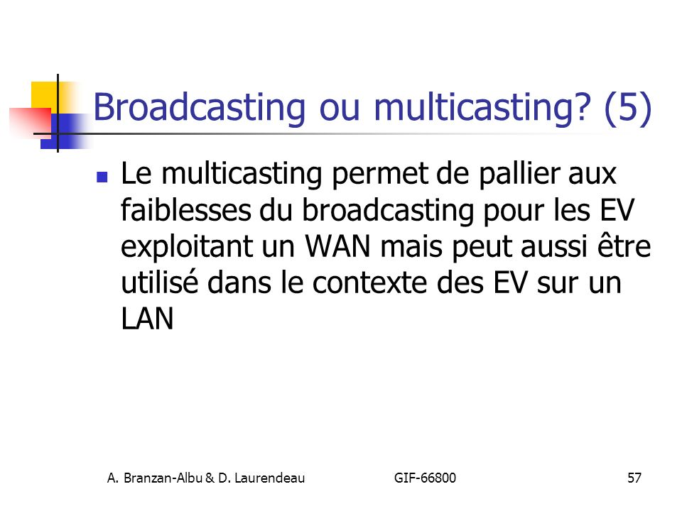 Broadcasting ou multicasting (5)