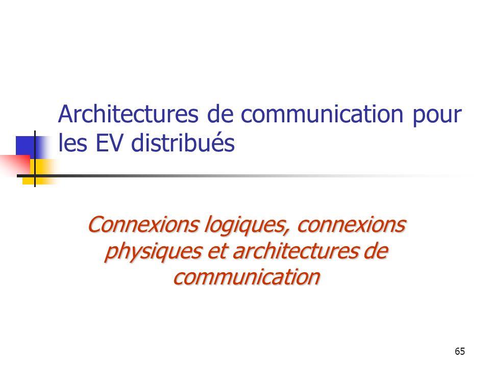 Architectures de communication pour les EV distribués