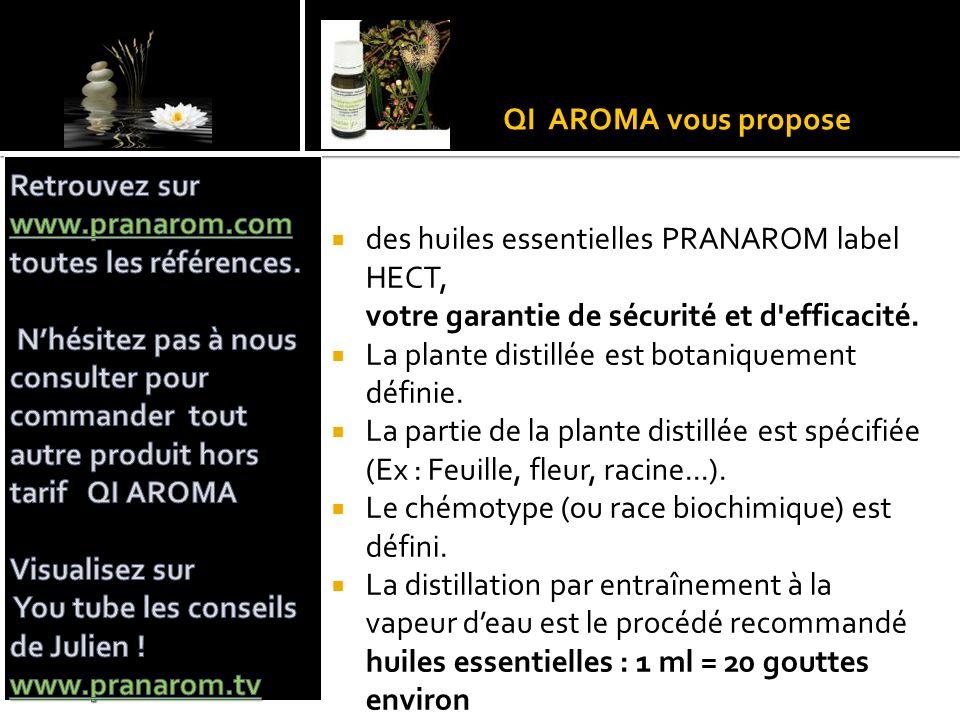 QI AROMA vous propose Retrouvez sur www.pranarom.com toutes les références.