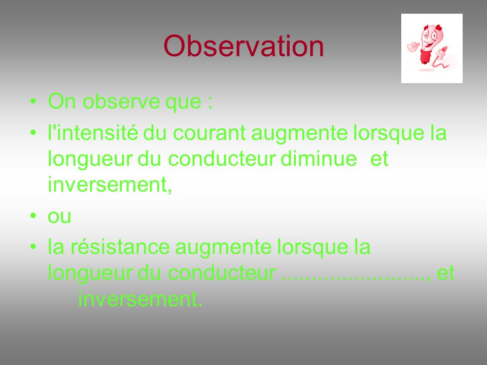 Observation On observe que :
