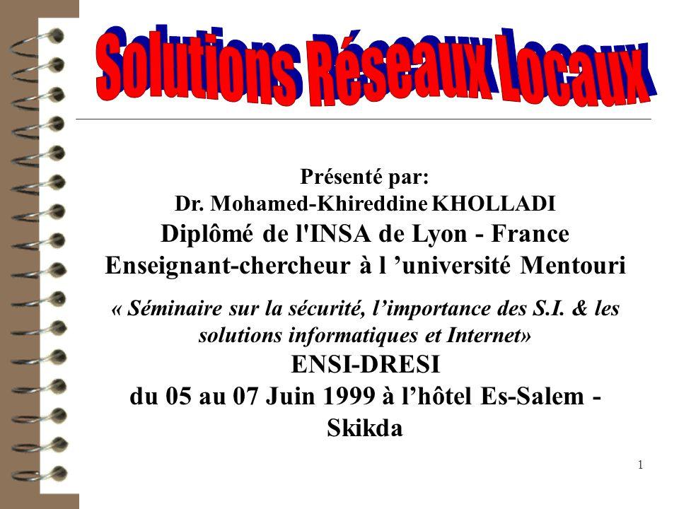 Solutions Réseaux Locaux