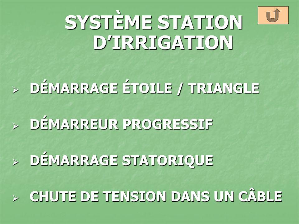 SYSTÈME STATION D'IRRIGATION