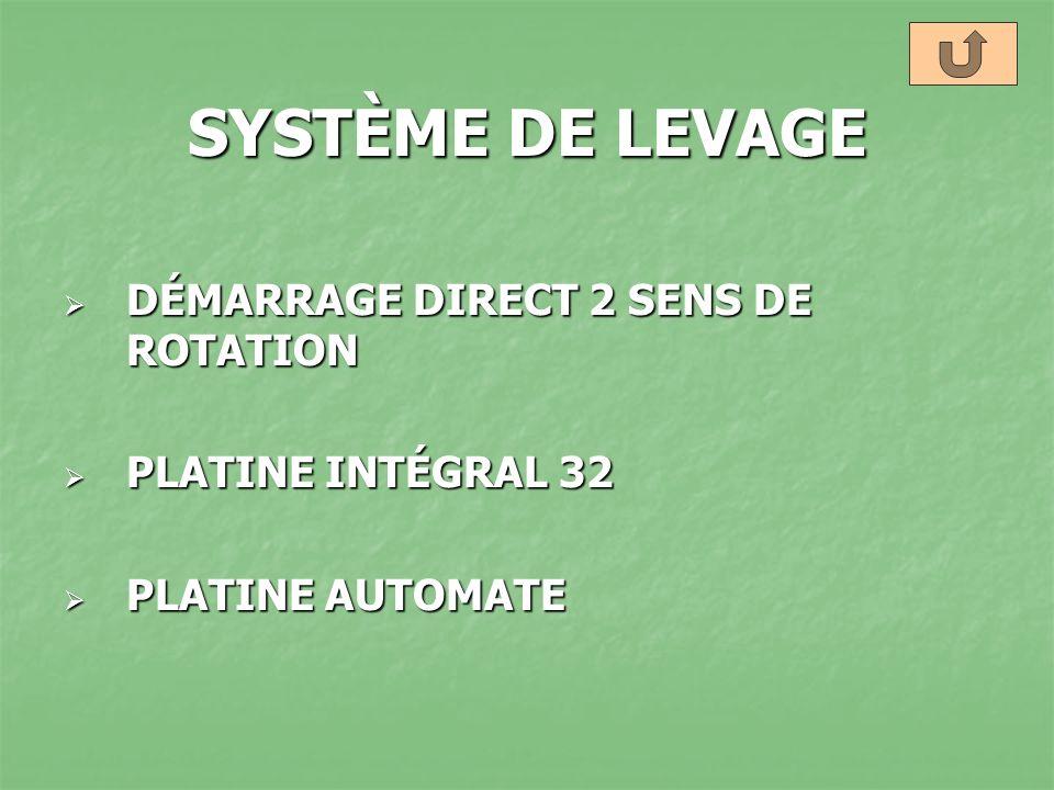 SYSTÈME DE LEVAGE DÉMARRAGE DIRECT 2 SENS DE ROTATION