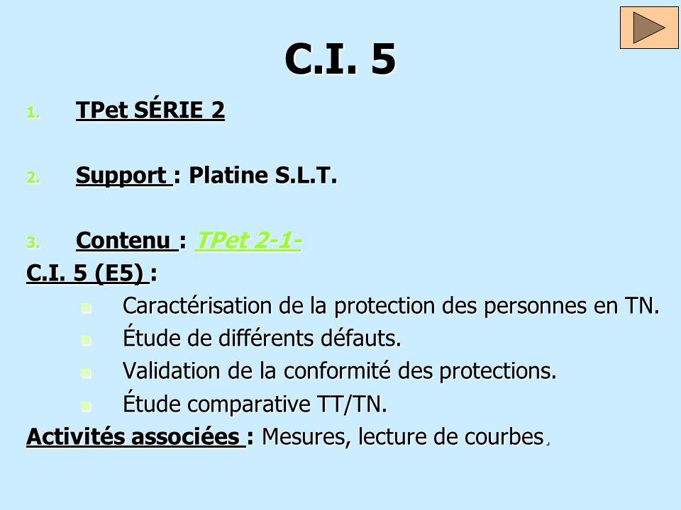 C.I. 5 TPet SÉRIE 2 Support : Platine S.L.T. Contenu : TPet 2-1-