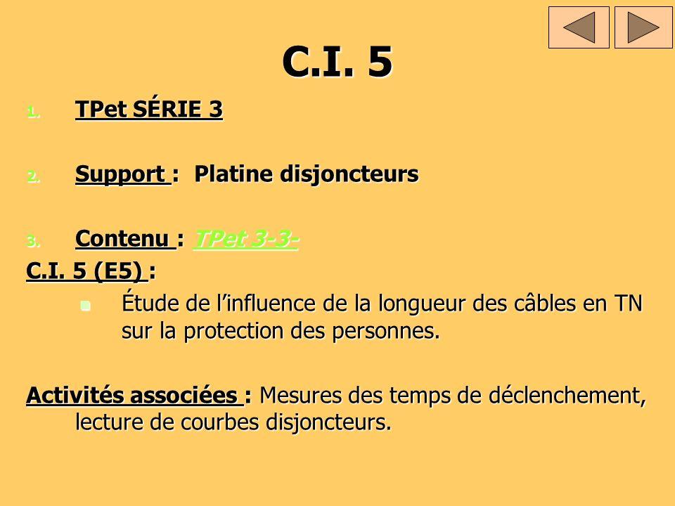 C.I. 5 TPet SÉRIE 3 Support : Platine disjoncteurs Contenu : TPet 3-3-