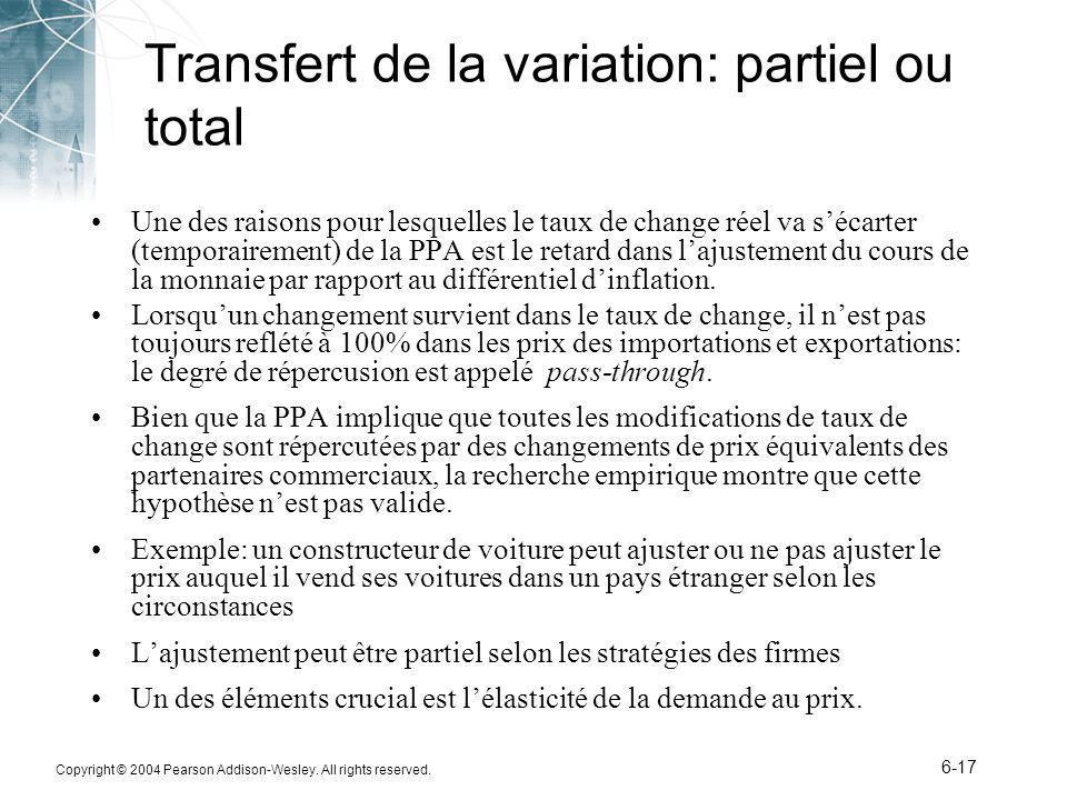 Transfert de la variation: partiel ou total