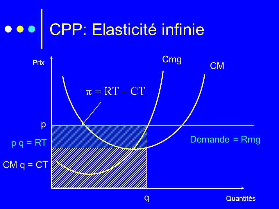 CPP: Elasticité infinie