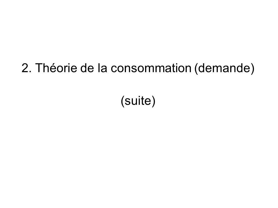 2. Théorie de la consommation (demande) (suite)