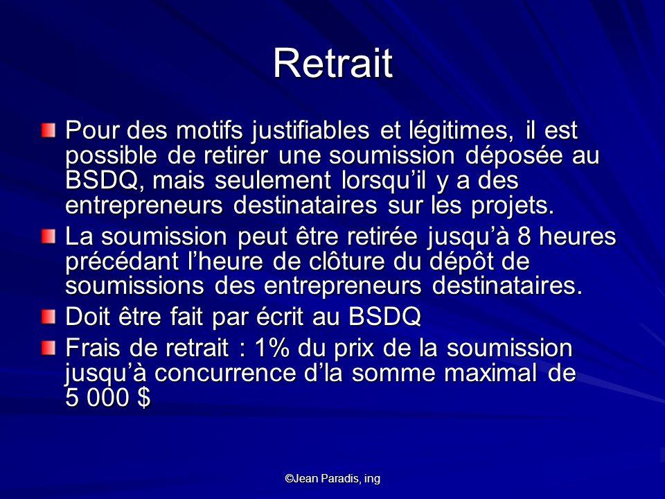 Retrait