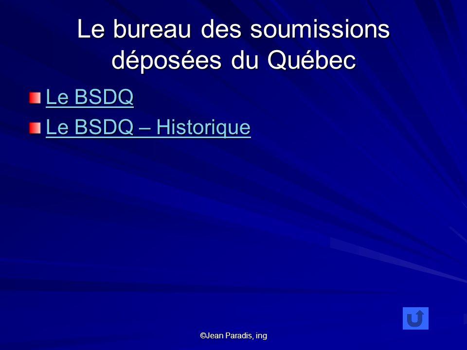 Le bureau des soumissions déposées du Québec