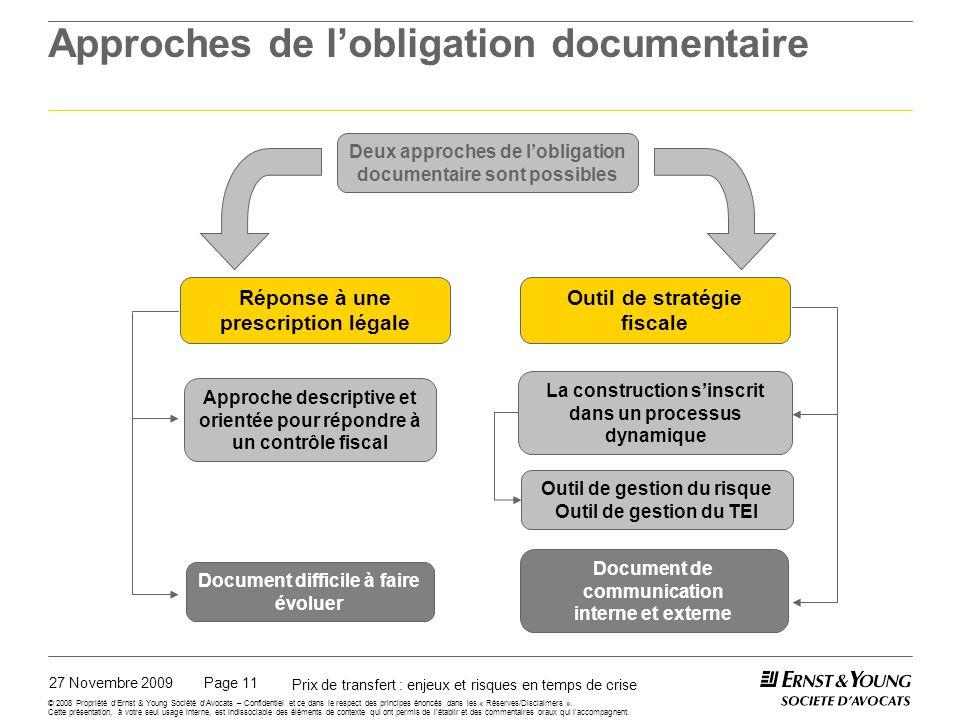 Documentation et gestion du taux effectif d'imposition