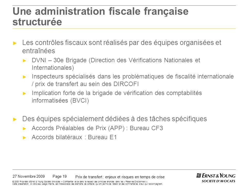 Une administration fiscale française équipée