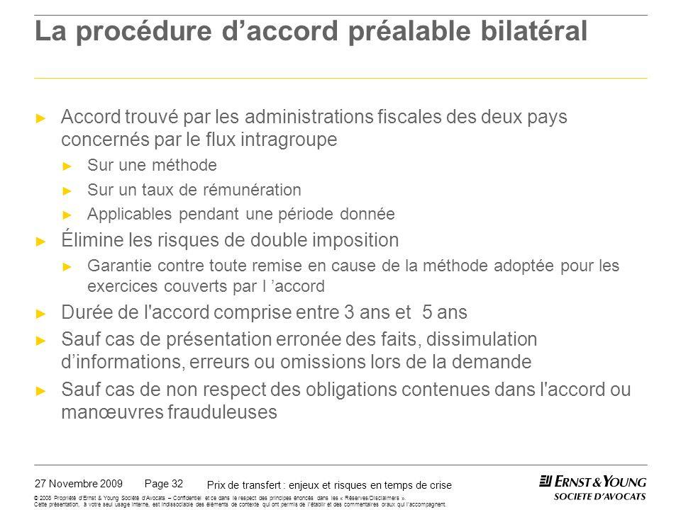 La procédure d'accord préalable unilatéral