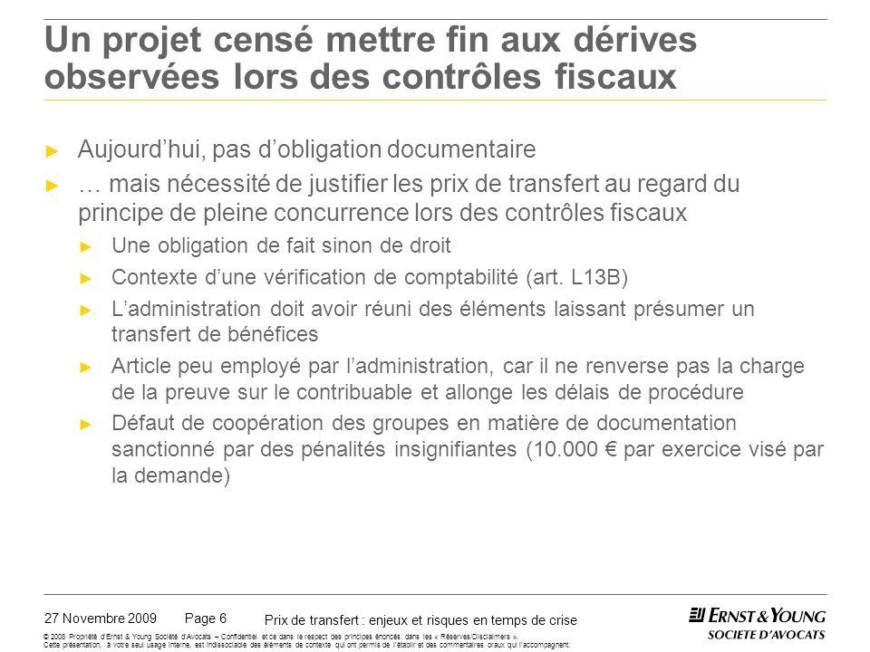 Le projet de texte sur l'obligation documentaire en France