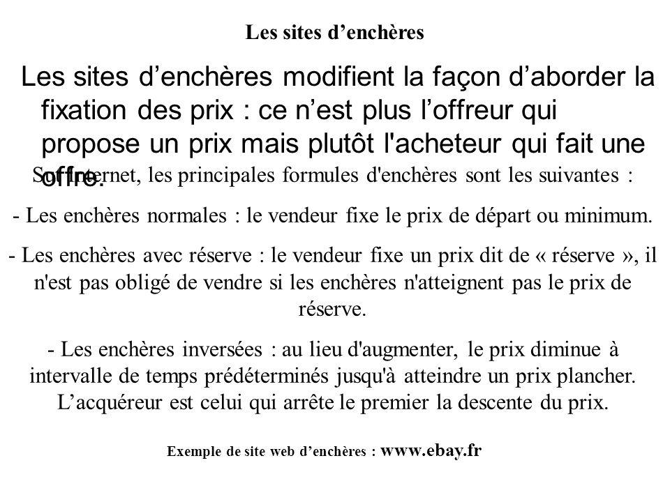 Exemple de site web d'enchères : www.ebay.fr