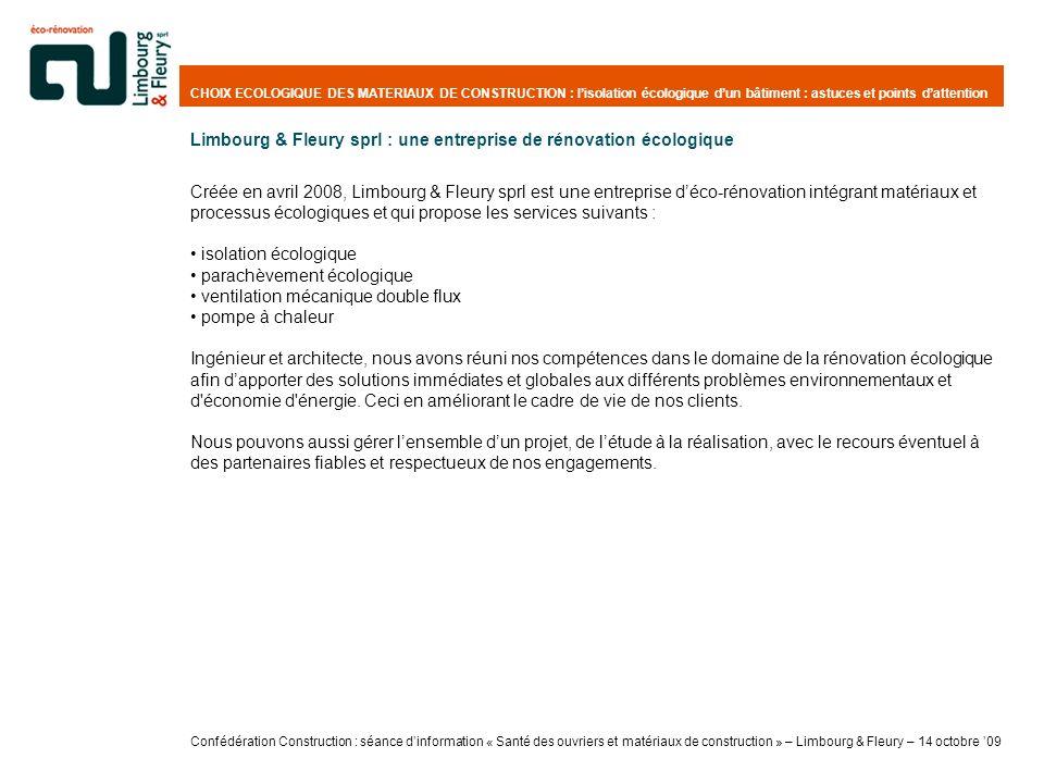 Limbourg & Fleury sprl : une entreprise de rénovation écologique