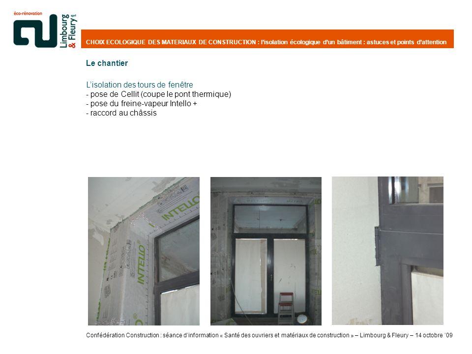 L'isolation des tours de fenêtre