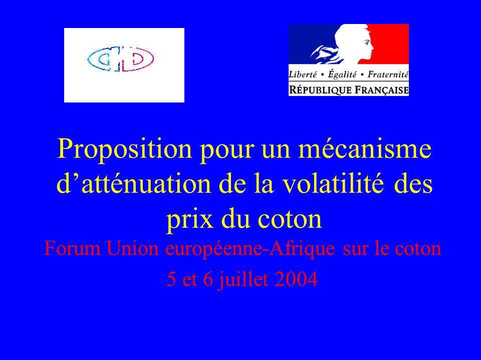 Forum Union européenne-Afrique sur le coton 5 et 6 juillet 2004