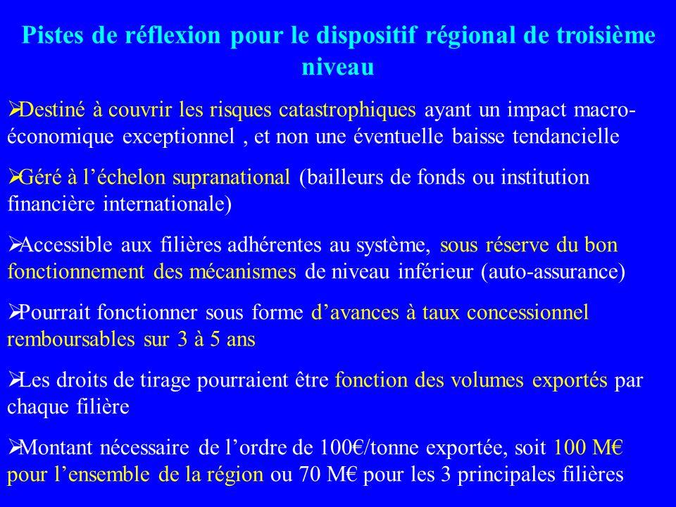 Pistes de réflexion pour le dispositif régional de troisième niveau
