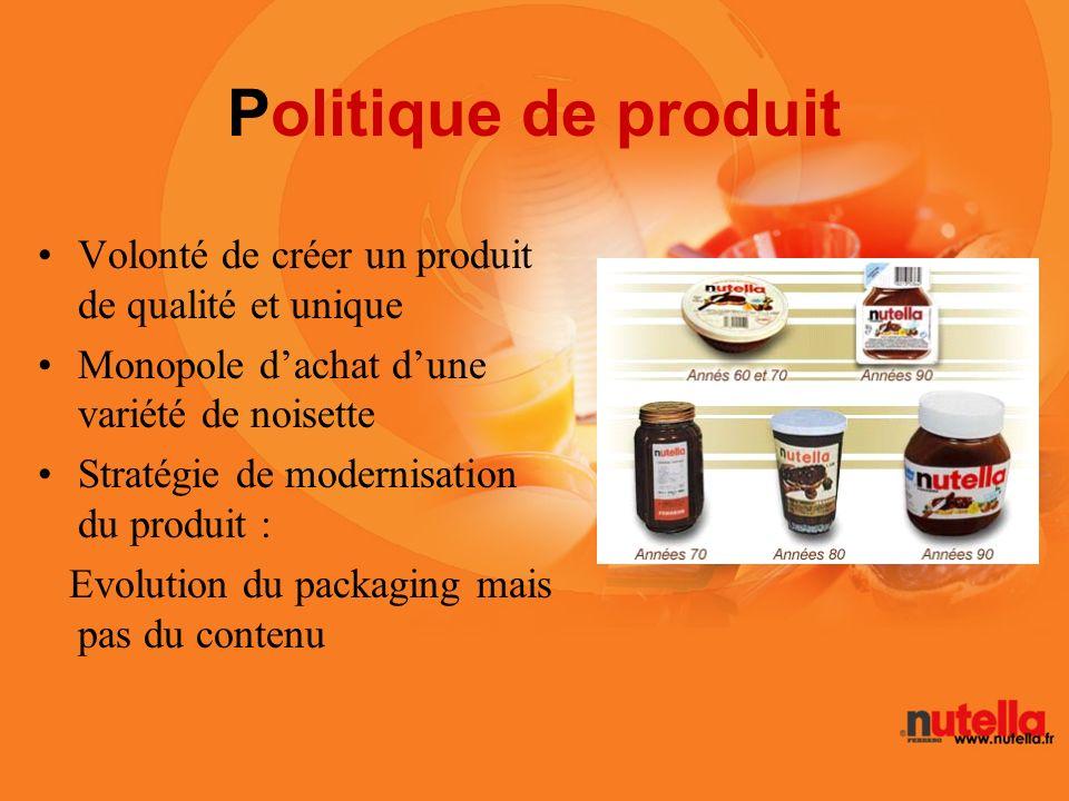 Politique de produit Volonté de créer un produit de qualité et unique