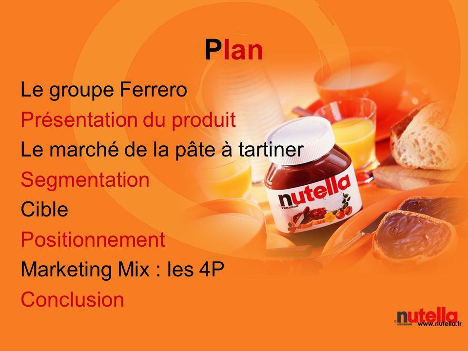 Plan Le groupe Ferrero Présentation du produit