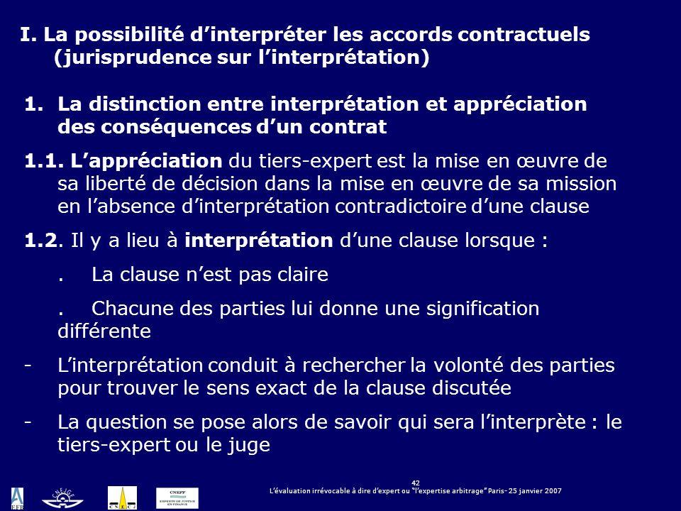 1.2. Il y a lieu à interprétation d'une clause lorsque :