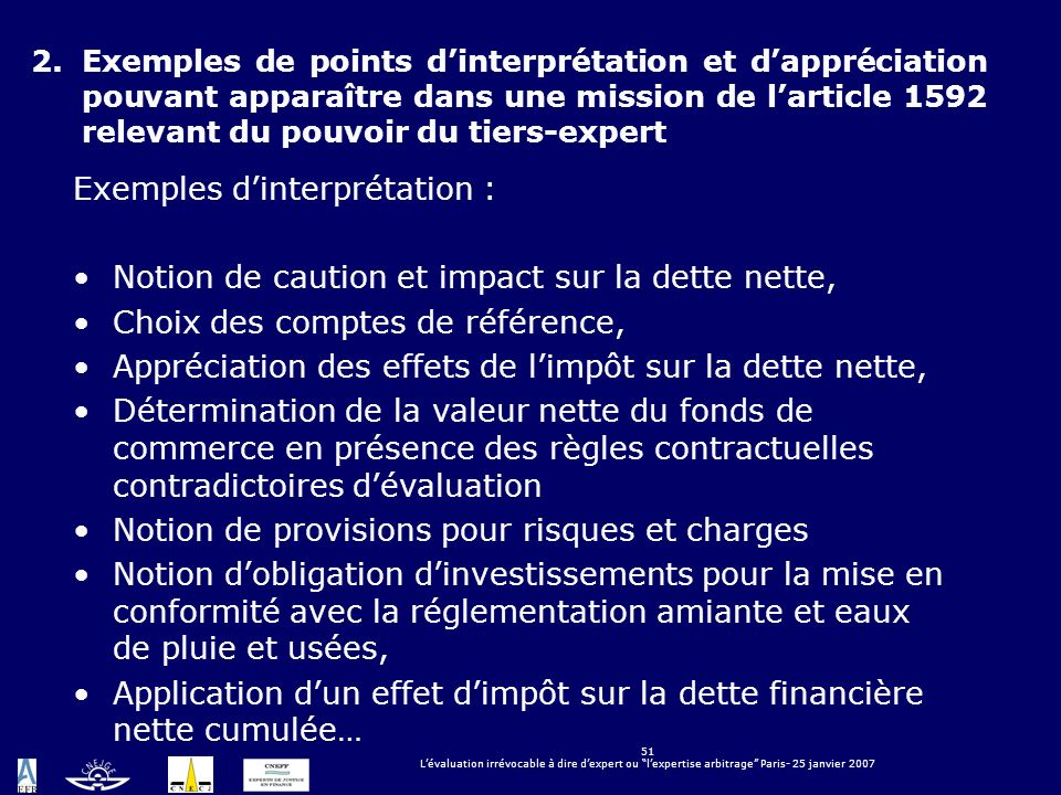 Exemples d'interprétation :
