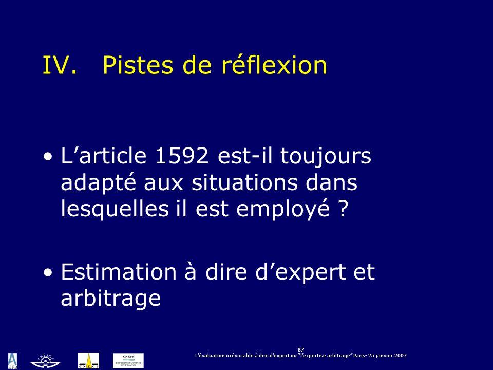 Pistes de réflexion L'article 1592 est-il toujours adapté aux situations dans lesquelles il est employé