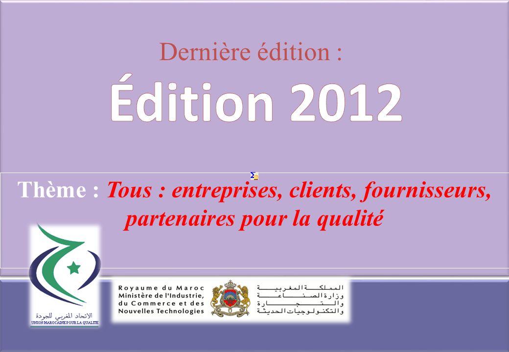 Édition 2012 Dernière édition :