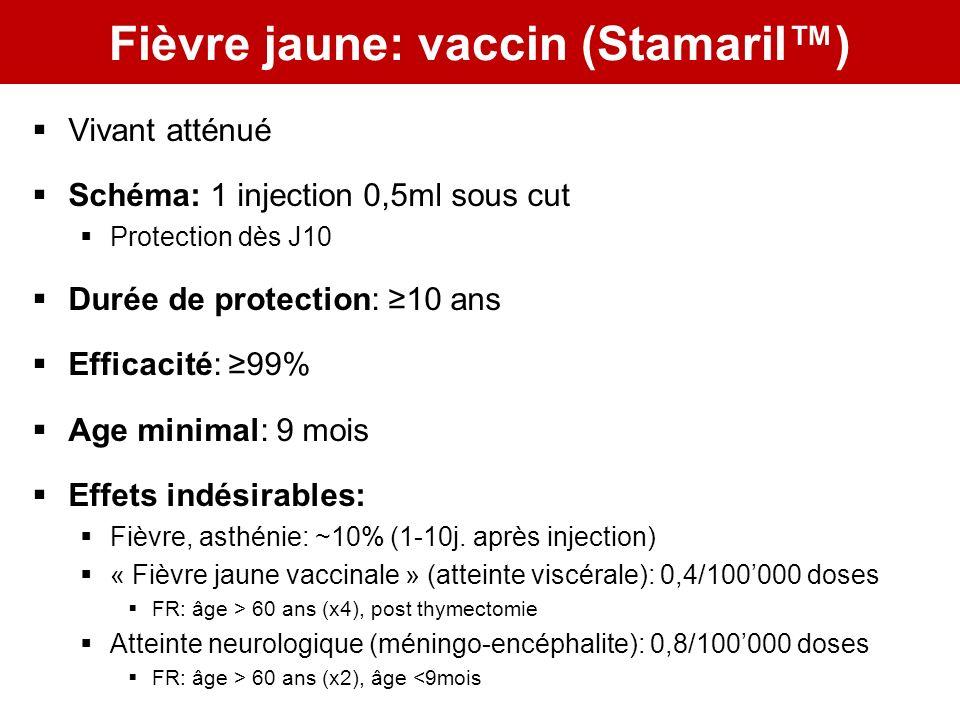 Fièvre jaune: vaccin (Stamaril™)