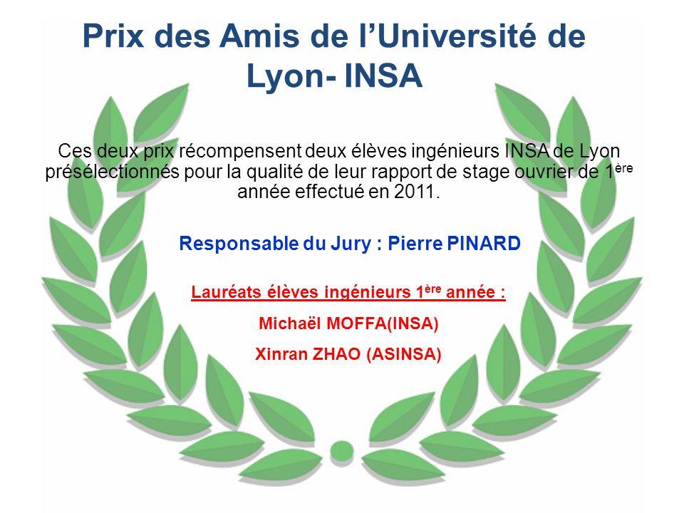 Prix des Amis de l'Université de Lyon- INSA