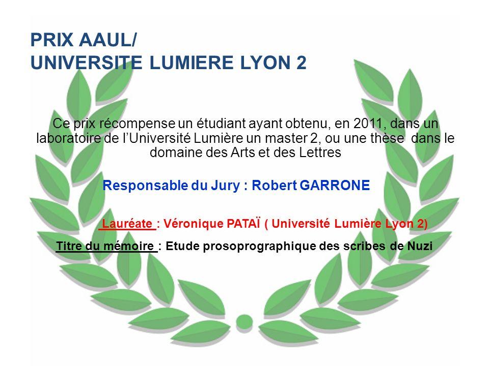 UNIVERSITE LUMIERE LYON 2