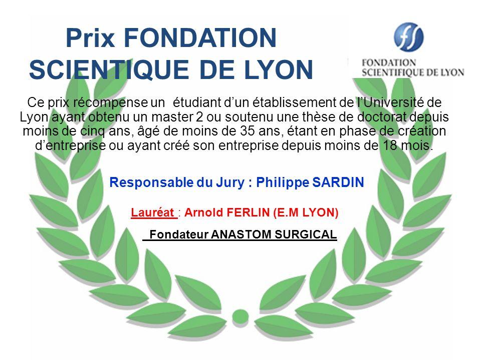 Prix FONDATION SCIENTIQUE DE LYON