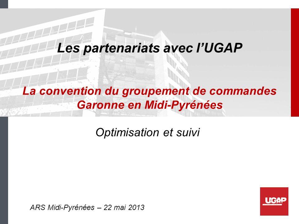 Les partenariats avec l'UGAP La convention du groupement de commandes Garonne en Midi-Pyrénées
