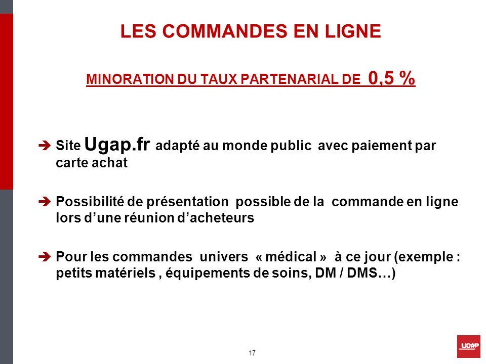 MINORATION DU TAUX PARTENARIAL DE 0,5 %
