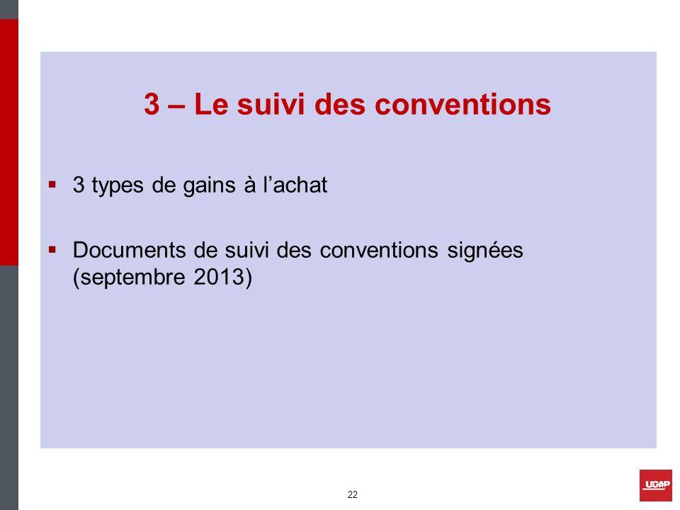 3 – Le suivi des conventions
