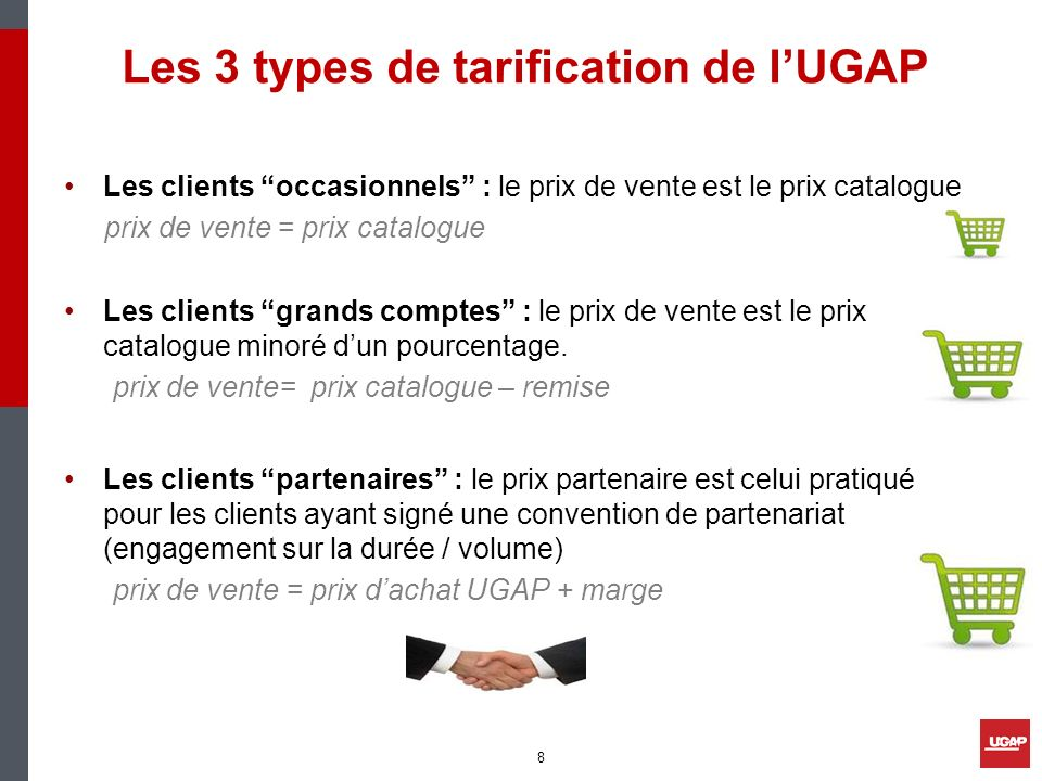 Les 3 types de tarification de l'UGAP