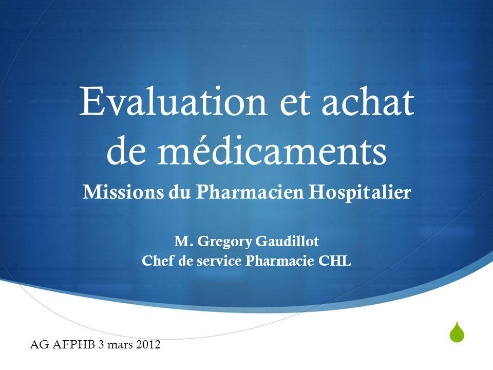 Evaluation et achat de médicaments