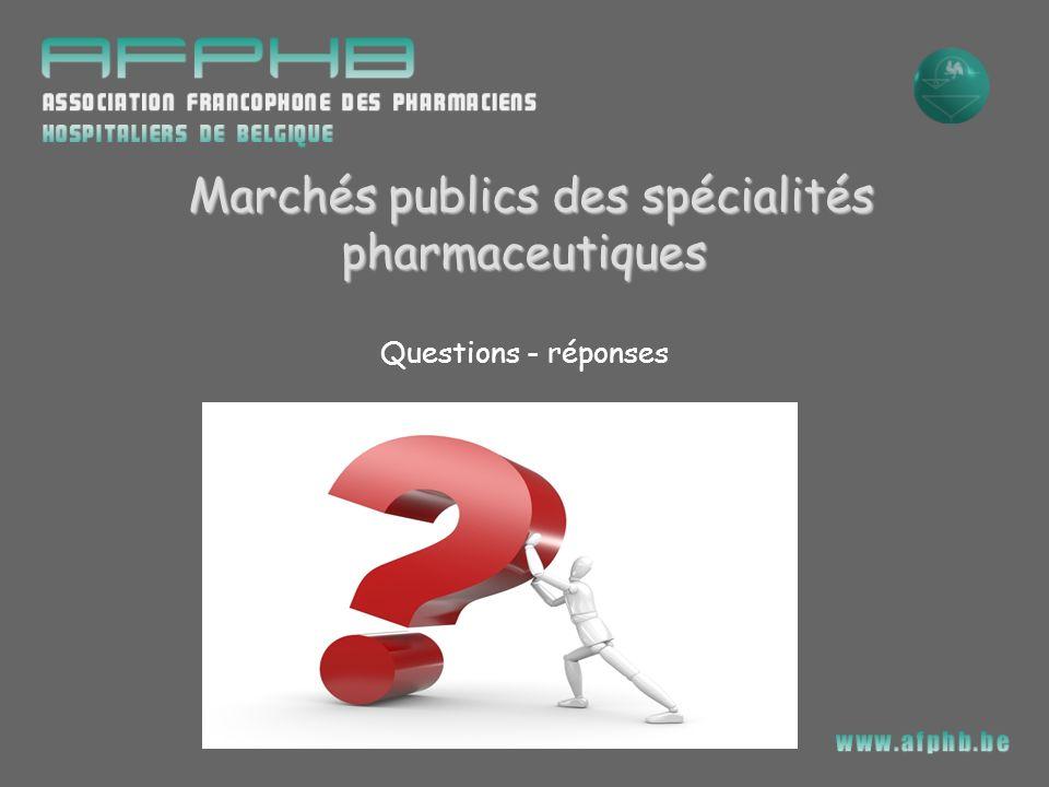 Marchés publics des spécialités pharmaceutiques