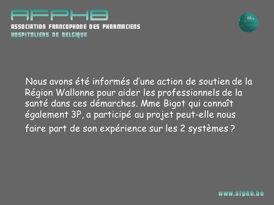 Nous avons été informés d'une action de soutien de la Région Wallonne pour aider les professionnels de la santé dans ces démarches.